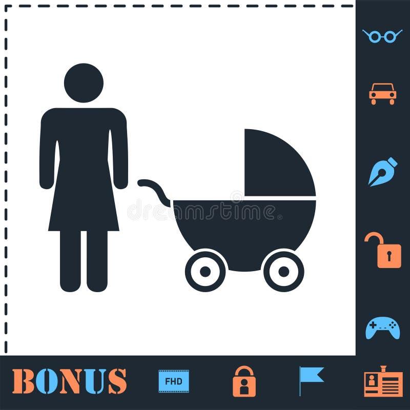 Maternity icon flat. Maternity. Perfect icon with bonus simple icons vector illustration