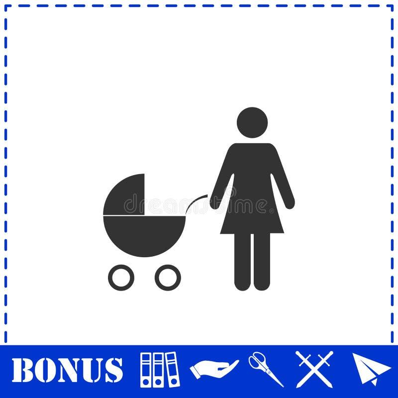 Maternity icon flat. Simple vector symbol and bonus icon stock illustration