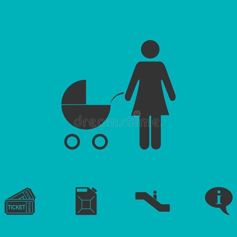 Maternity icon flat. Simple vector symbol and bonus icon royalty free illustration
