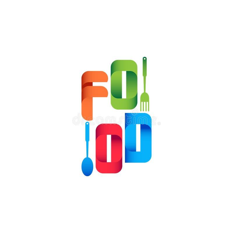 Matfestival Logo Vector Template Design Illustration royaltyfri illustrationer