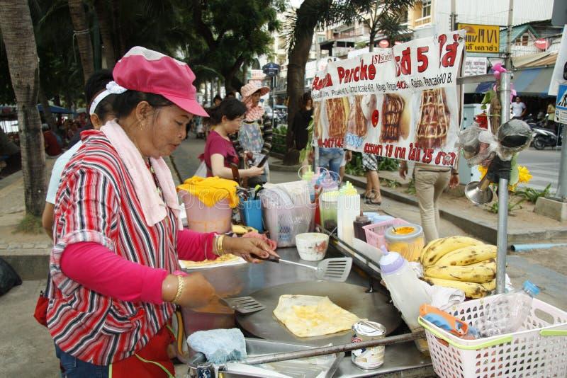 matgata thailand royaltyfri fotografi