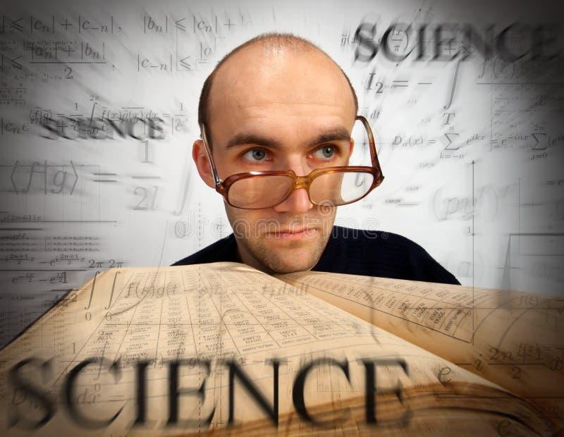 Mathématicien scientifique songeur images stock