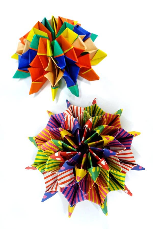 Mathématiques d'origami - méduses ou étoile de mer photos libres de droits