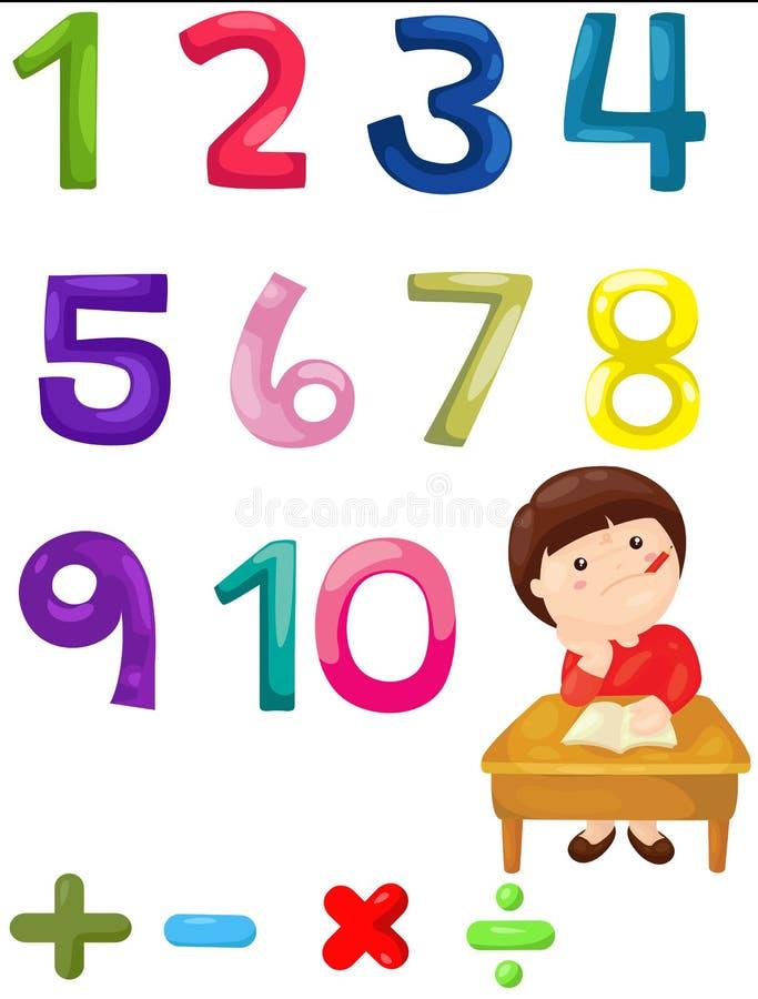 Mathématiques de nombre illustration stock