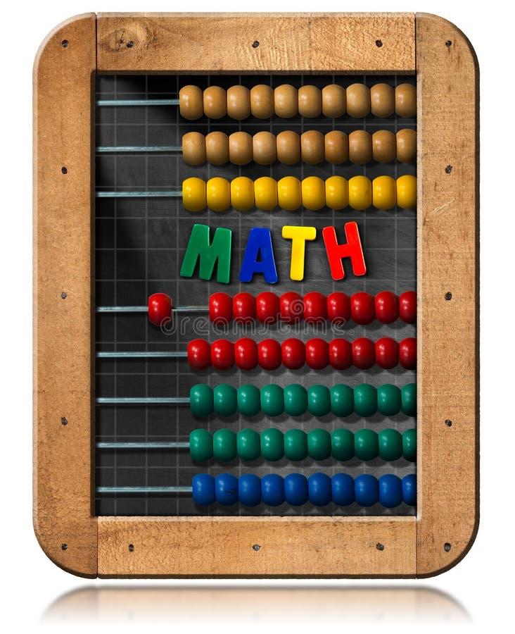Math - πίνακας με το ζωηρόχρωμο άβακα ελεύθερη απεικόνιση δικαιώματος