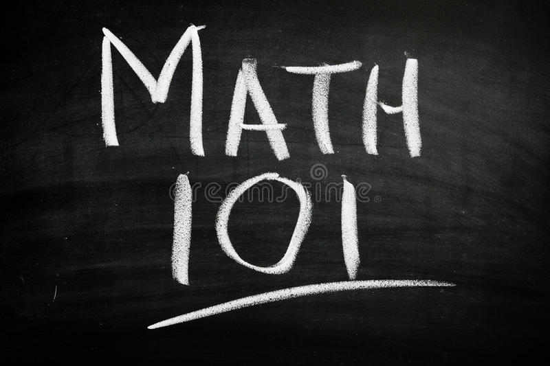 Download Math 101 stock photo. Image of school, black, math, blackboard - 23037866