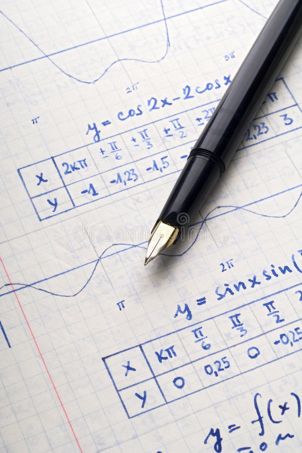 Math royalty free stock photography