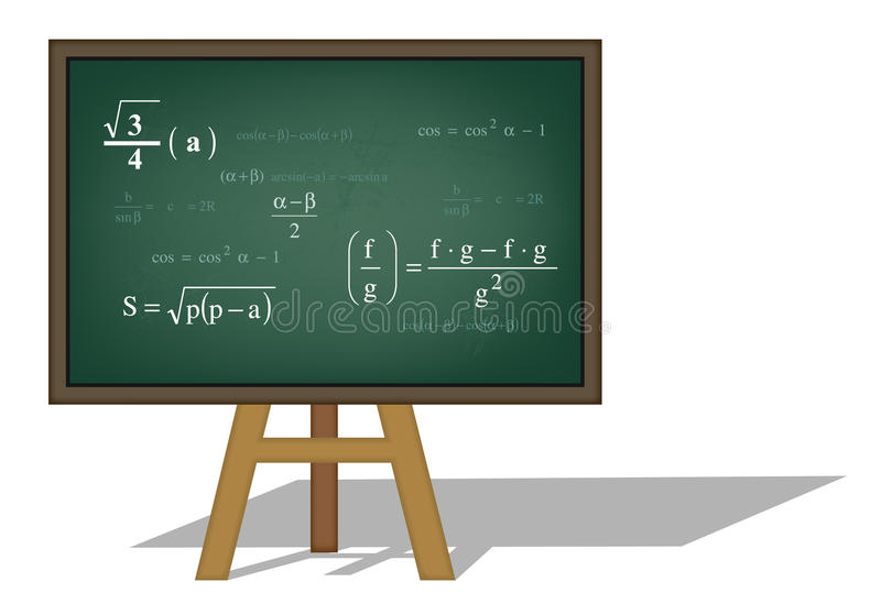 Download Math background stock vector. Image of algebra, mess - 17236293