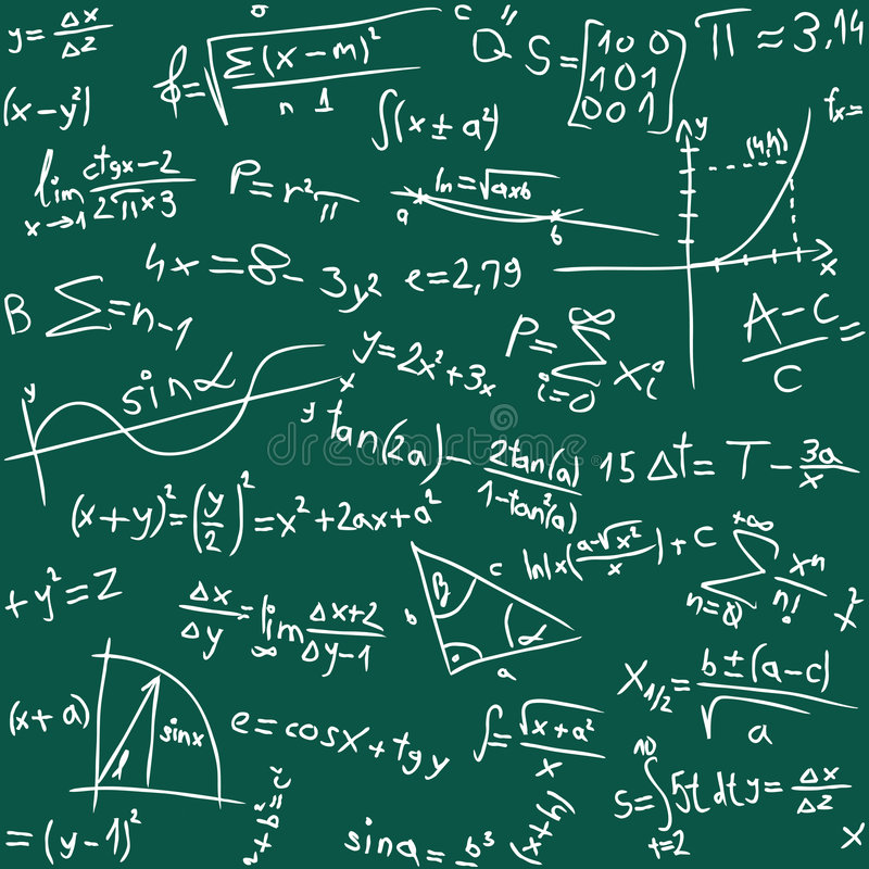 Math Background Royalty Free Stock Photo