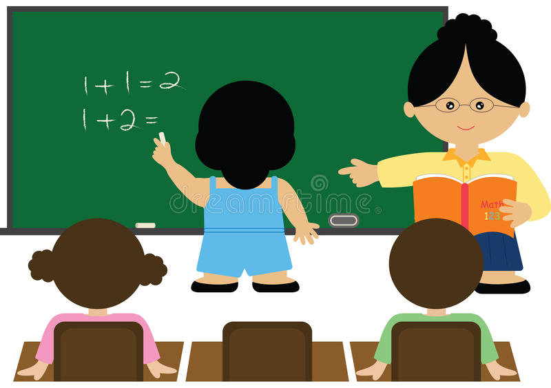 Download Math Class stock illustration. Image of girl, child, history - 28616493