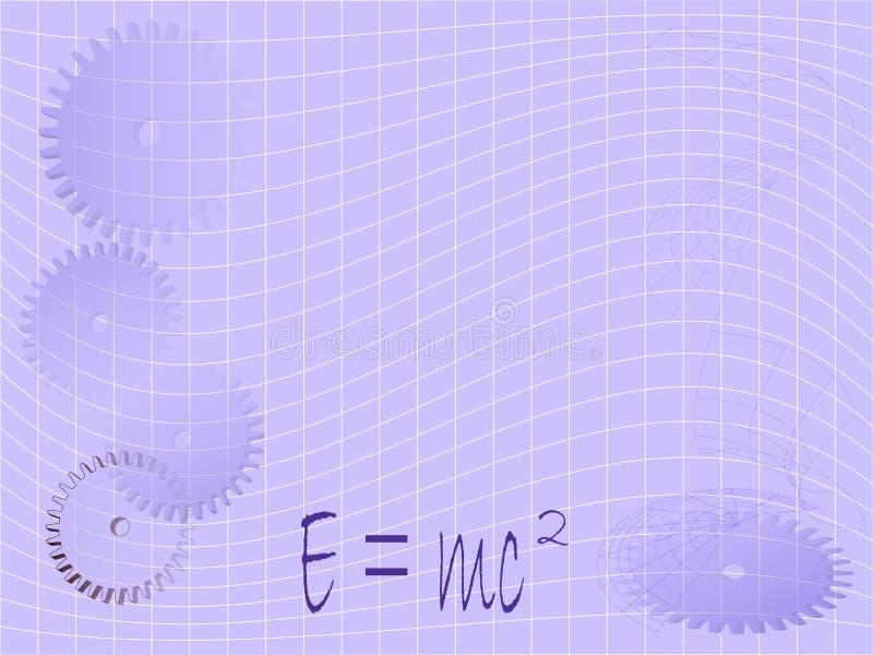 Math, de Achtergrond van de Wetenschap stock illustratie