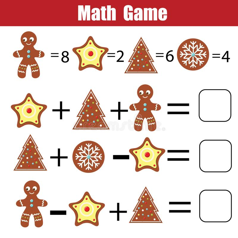 Math Educational Game For Children. Mathematical Counting Equations ...