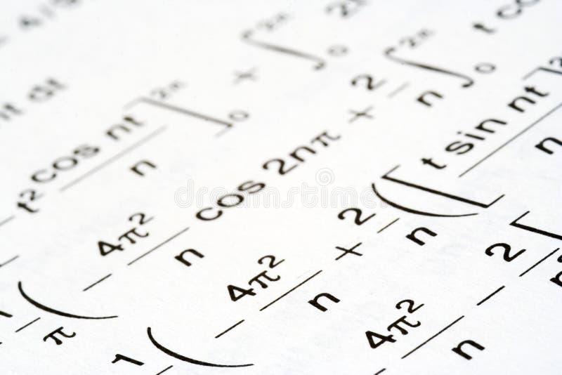 Math equations stock photography
