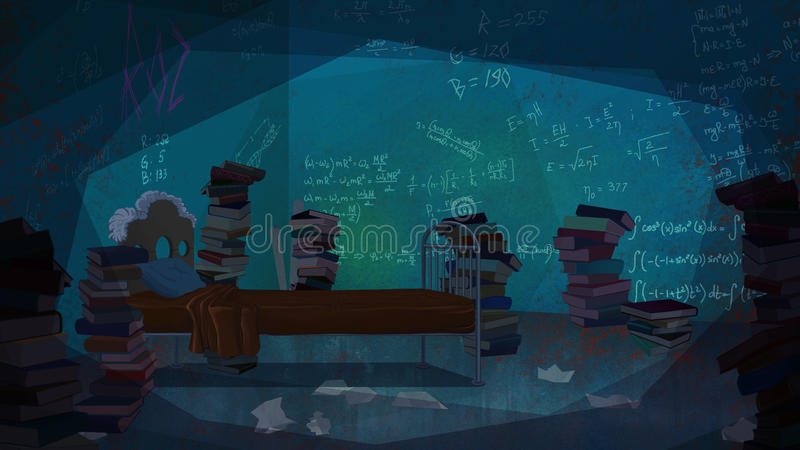 Math Equations Written On The Wall. Stock Illustration ...