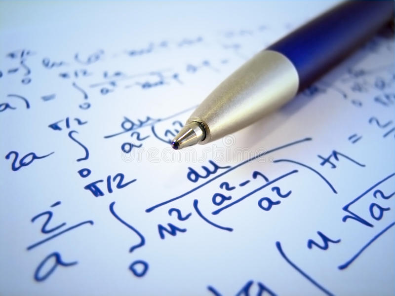 Math exercise stock photo. Image of formula, mathematics - 10570624