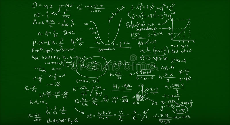 Download Math formulas stock image. Image of calculation, knowledge - 24772437