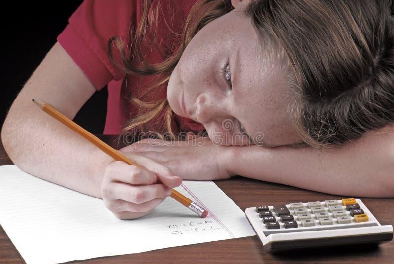 Download Math homework stock image. Image of math, class, practice - 8305149