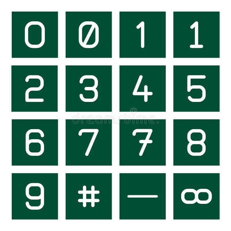 Math Icon Set 1 royalty free illustration