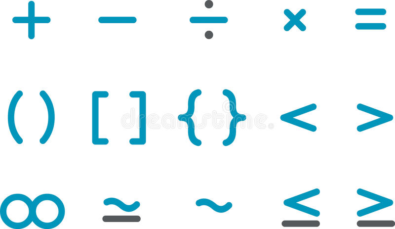 Math Icon Set vector illustration