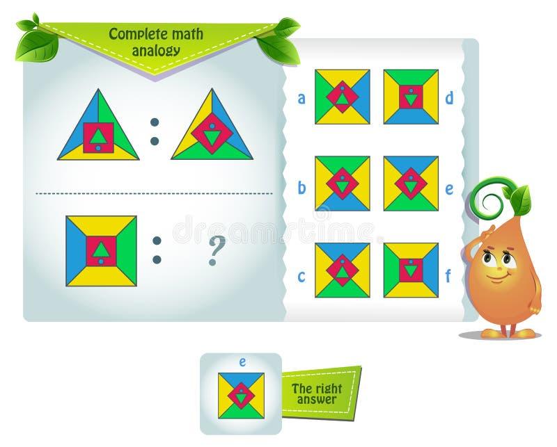Math iq shape Analogie stock illustratie