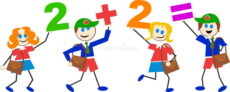 Math kids royalty free illustration