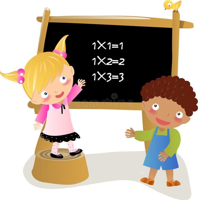 Math kids stock illustration