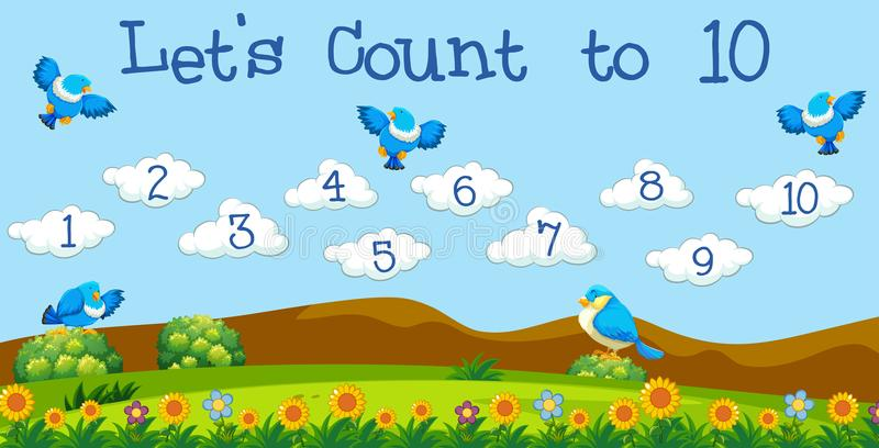 A Math Lesson Count to 10. Illustration stock illustration