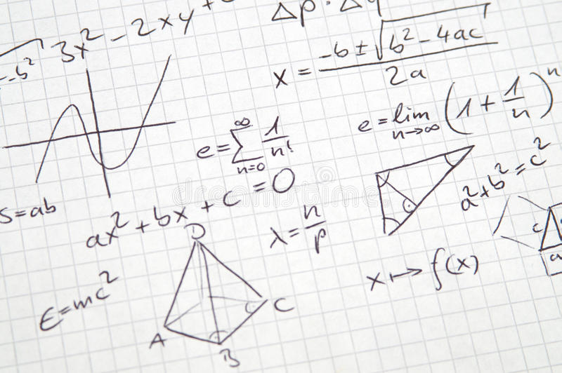 Phrase Mathematics In A Nutshell Stock Image - Image of