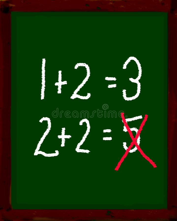 Math Problem stock illustration. Illustration of handwritten - 4227220