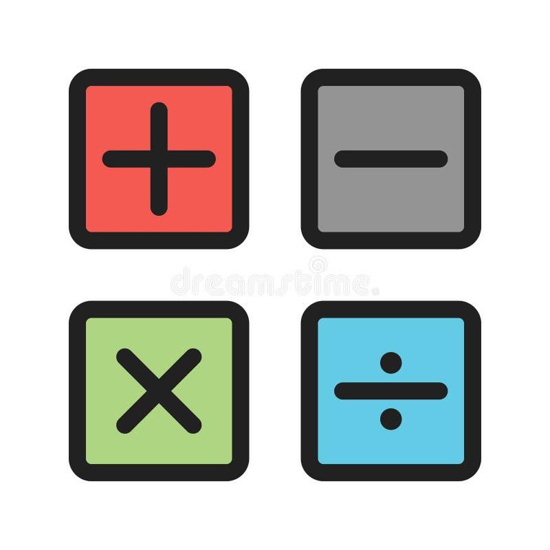 Math Symbols Ii Stock Vector Illustration Of Algebra 101434168