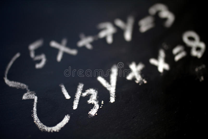 Mathe stockfoto