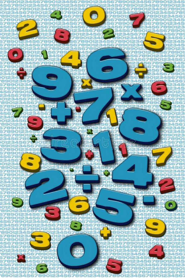 Mathe ilustration stock abbildung