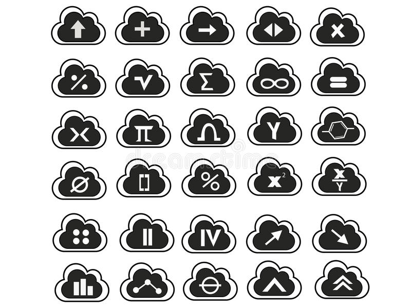 Mathe-Symbole lizenzfreie stockfotografie