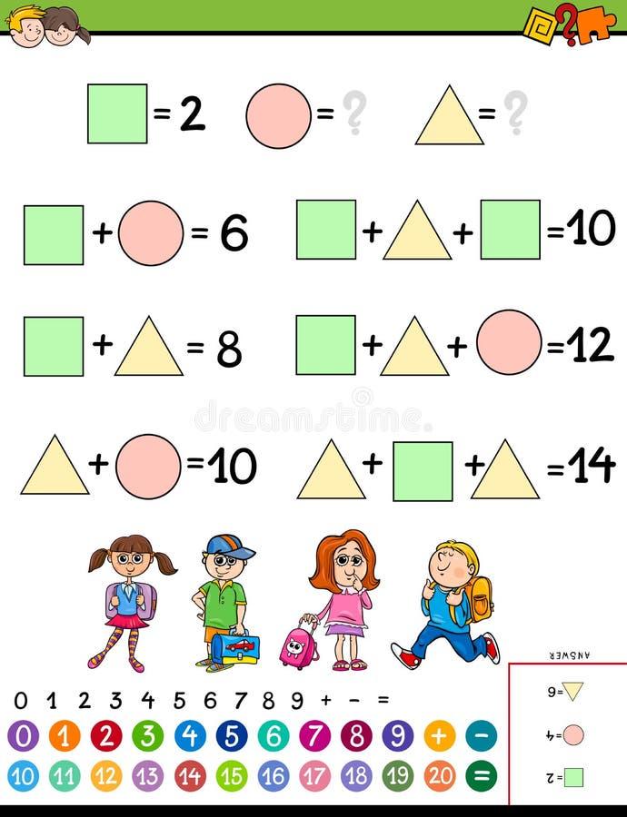 Matheberechnungslernspiel für Kinder vektor abbildung