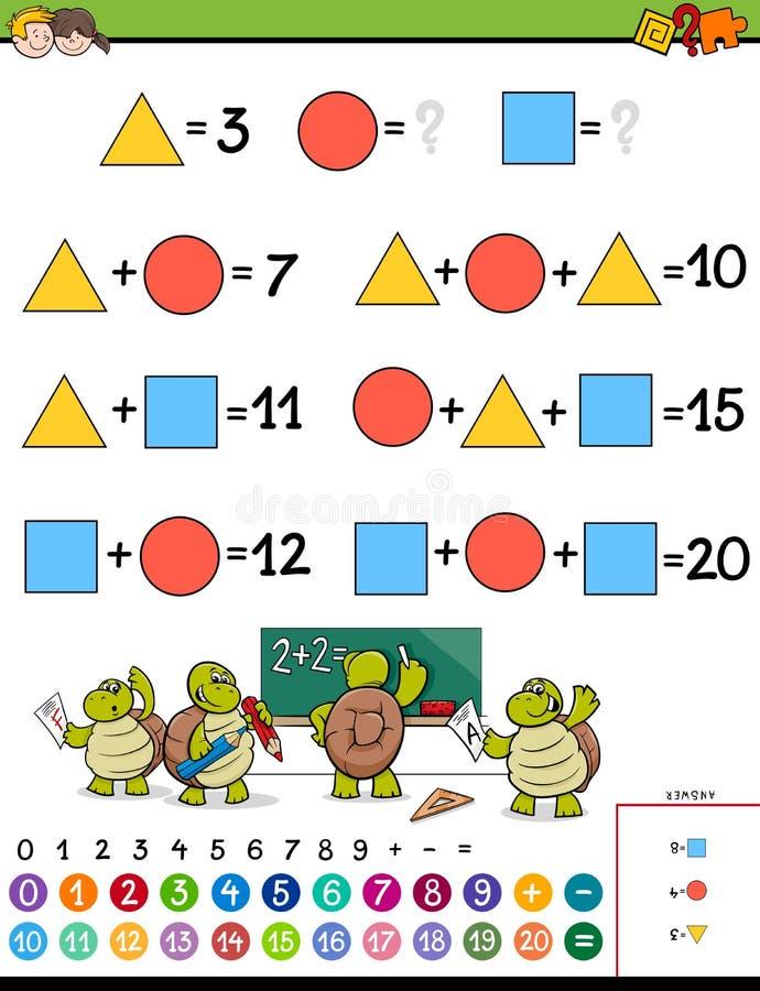 Matheberechnungslernspiel für Kinder lizenzfreie abbildung