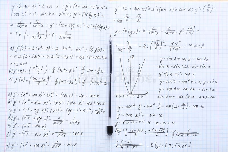 Matheformeln stockfotografie