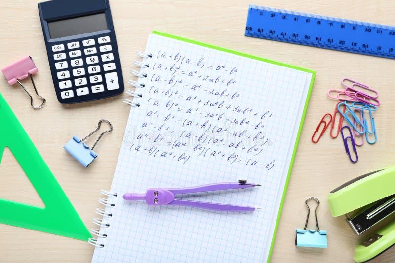 Matheformeln stockfoto
