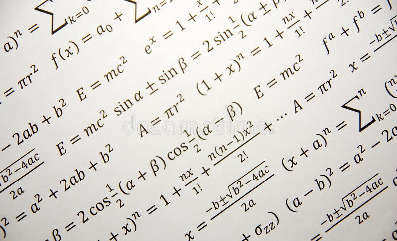 Mathegeometriehintergrund lizenzfreies stockfoto
