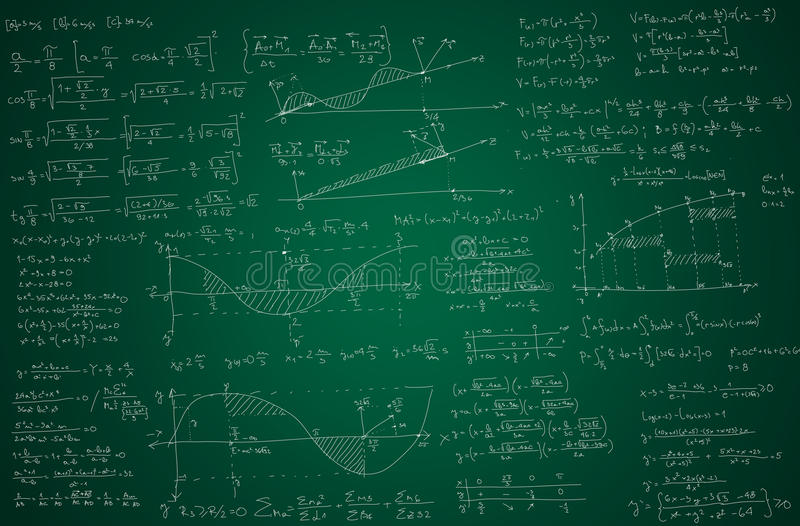 Mathehintergrund stock abbildung