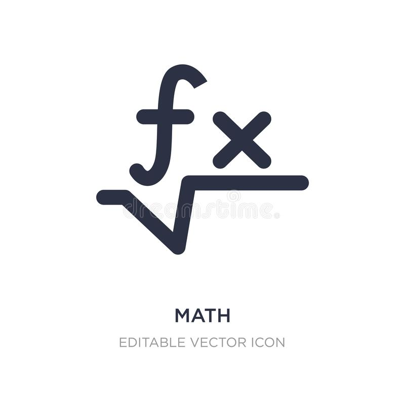 Matheikone auf weißem Hintergrund Einfache Elementillustration vom Zeichenkonzept lizenzfreie abbildung