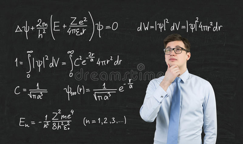 Mathematic formula on blackboard royalty free stock image