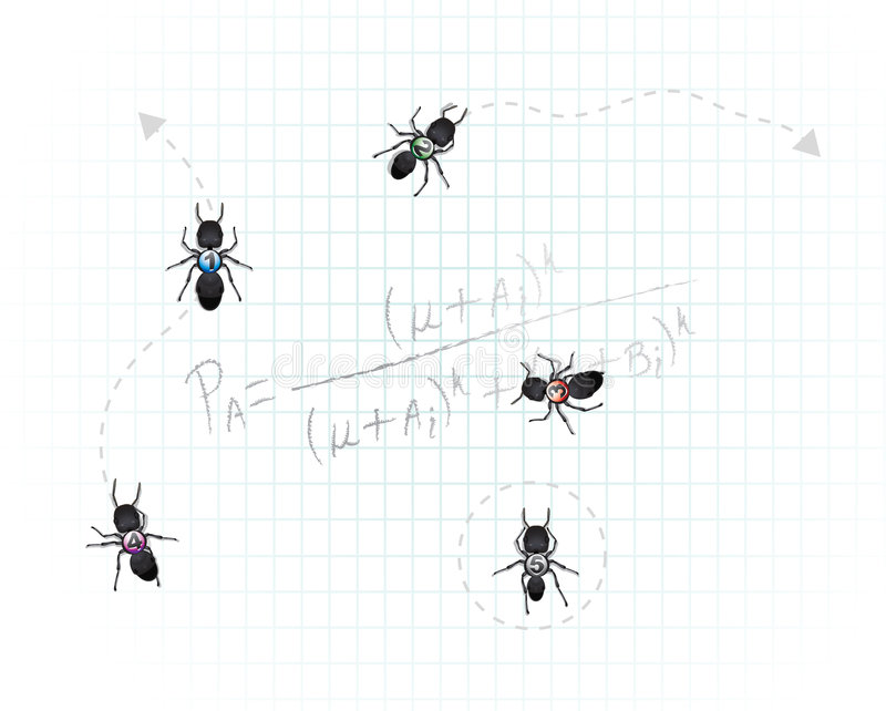 Download Mathematical Ants stock vector. Image of maths, precise - 7134368
