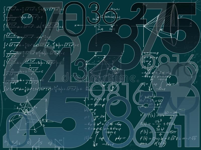 Mathematical background vector illustration