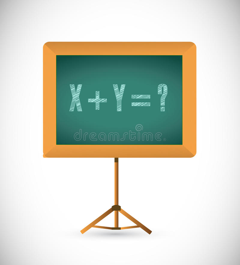 Mathematical equation on a chalkboard. royalty free illustration