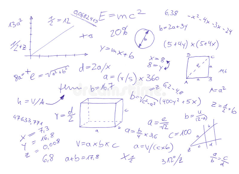 Download Mathematical Equations stock illustration. Image of equation - 9270819