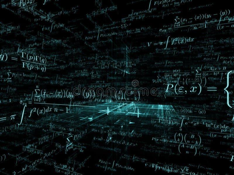 Way of Mathematics royalty free illustration