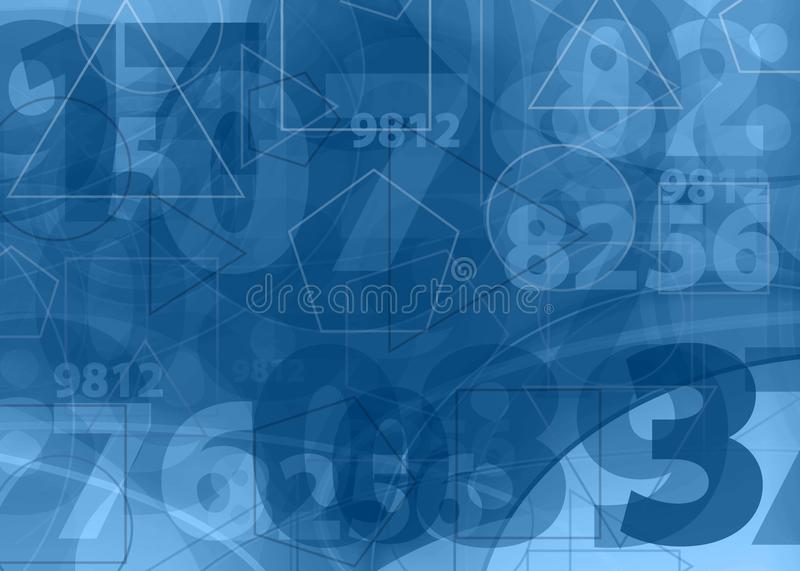 Download Mathematical  Numbers Blue Background Stock Illustration - Illustration: 17239536