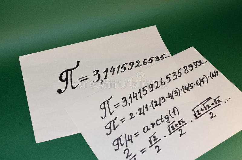 The mathematical sign of PI. royalty free stock image