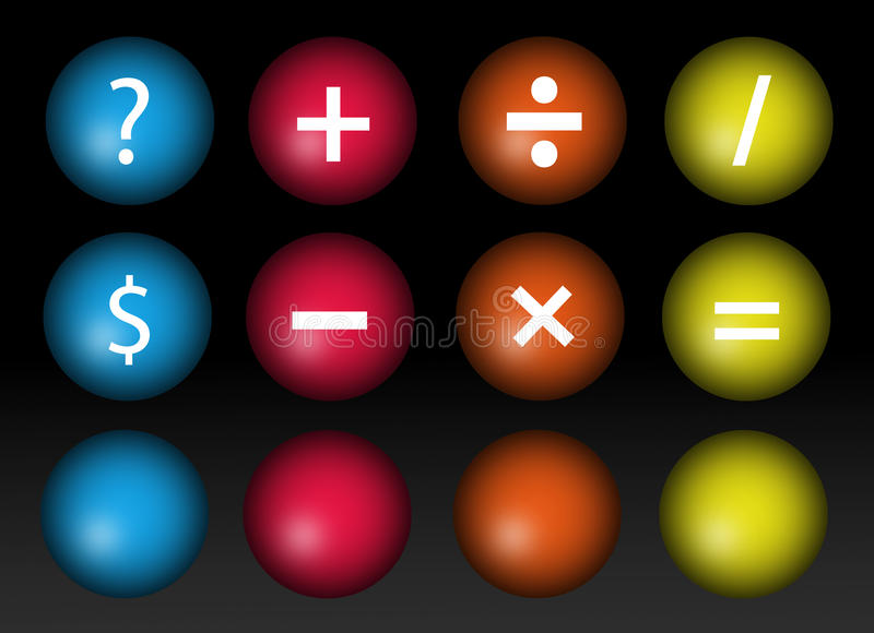Mathematical signs royalty free illustration