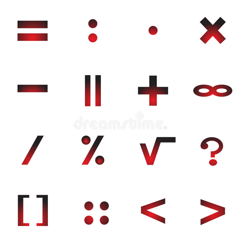 Mathematical Symbols Of An Icon Stock Vector Illustration Of